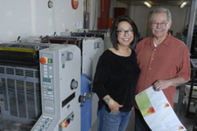 Jeanette and Martin Candelaria of Greetings, Etc. Inc.