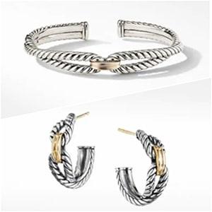 David Yurma Bracelet and Earrings